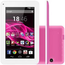 "Tablet Multilaser Supra 8GB 7"" Wi-Fi Android 4.4 - Proc. Quad Core Câmera Integrada"