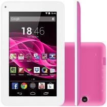 "Tablet Multilaser Supra 8GB 7"" Wi-Fi Android 4.4 - sem cartão - Proc. Quad Core Câmera Integrada"