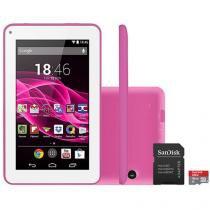 "Tablet Multilaser Supra 8GB Tela 7"" Wi-Fi - Android 4.4 Proc. Quad Core + Cartão 16GB"