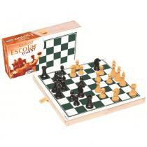 Tabuleiro de Xadrez Escolar Maxi Branco/Verde 60043 - Xalingo - Xalingo