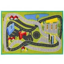 Tapete Clean Kasa Infantil City 50x70 cm - Verde - Kapazi