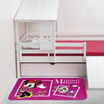 Tapete Infantil Orient Minnie Flores 80x120 cm -Jolitex - Minnie Fun - Jolitex