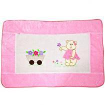 Tapete Infantil Pelúcia Coleção Ursa Florista - 125x76cm - Batistela Baby 3808