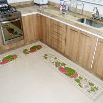 Tapete para Cozinha Sisal Look 2015 Melancia - 3 Peças - Rayza