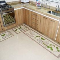 Tapete para Cozinha Sisal Look 2015 Pêssego - 3 Peças - Rayza