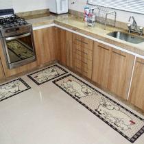Tapete para Cozinha Sisal Look 2015 Porquinho - 3 Peças - Rayza