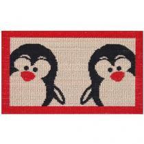 Tapete para Porta de Entrada Sisal Look Pinguim - 40x60cm Rayza