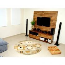 Tapete para Quarto/Sala Marbella - com Desenho Quadrado 200cm - Rayza