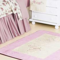Tapete Pelúcia Fleur Rosé - Batistela Baby - Batistela