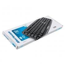 Teclado Básico Multilaser Slim TC064 Preto PS2 - Multilaser