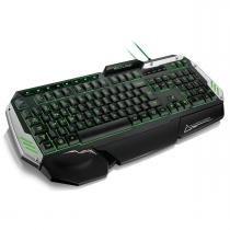 Teclado Gamer com LED 3 Cores USB Preto/Prata TC189 - Multilaser - Multilaser