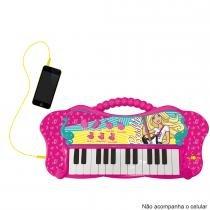 Teclado Infantil Fabuloso Barbie Função MP3 8007-1 - Fun - Fun