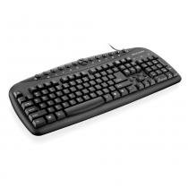 Teclado Multimidia Multilaser Super TC080 Preto PS2 - Multilaser