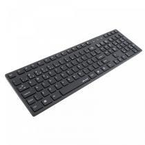Teclado Multimídia Slim USB MK-601BK Preto - Fortrek - Fortrek