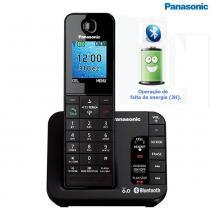 Telefone Sem Fio com Função Bluetooth KX-TGH260LBB  Panasonic - Panasonic
