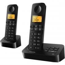 Telefone Sem Fio D2152B/BR Philips com Ramal, Bina e Viva voz - Philips