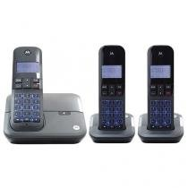 Telefone Sem Fio Digital Motorola 2 Ramais - Identificador de Chamadas DECT 6.0 MOTO4000 MRD3