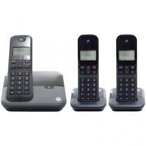 Telefone Sem Fio Digital Motorola com 2 Ramais - Identificador de chamadas MOTO3000 MRD3
