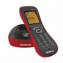 Telefone sem Fio Identificador de Chamadas TS8220 Vermelho - Intelbras - Intelbras