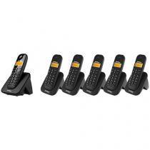 Telefone Sem Fio Intelbras Identific. de Chamadas - Chamada em Conferência TS 3110 + 5 Ramais Sem Fio