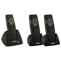 Telefone sem Fio Intelbras - Identificador de chamadas + 2 Ramais sem Fio