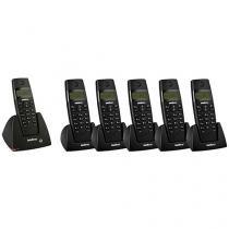 Telefone sem Fio Intelbras - Identificador de chamadas + 5 Ramais Sem Fio