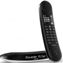 Telefone sem Fio Luceo Design M6601WB/BR Preto/Branco - Philips - Philips