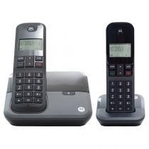 Telefone Sem Fio Motorola Expansível até 4 Ramais - Identificador de Chamadas c/ Ramal MOTO 3000 MRD2