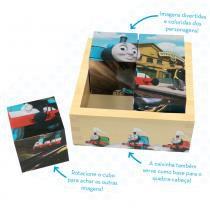 Thomas E Seus Amigos Cubo Quebra-Cabeça Madeira - Fun Divirta-se - Thomas e seus Amigos