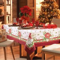 Toalha de Mesa Quadrada Natal Festivo 4p 140x140 cm - Karsten - Natal - Karsten