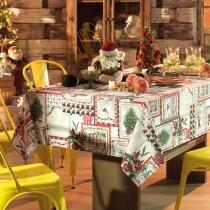 Toalha de Mesa Retangular Natal Bonne Noel 6p 140x210 cm - Karsten - Natal - Karsten