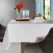 Toalha de Mesa Retangular Sienna Branco 6p 160x220 cm - Karsten - Branco - Karsten
