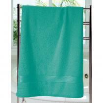 Toalha de Rosto Felpudo Estampada Prisma Verde - 50x80 - Dohler