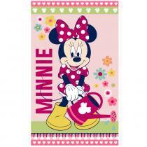 Toalha Estampada Banho Disney Light 100 Algodão Minnie Flower Verde - Santista - Verde - Santista