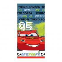 Toalha Estampada Veludo Disney Carros - Santista - Cars WGP - Santista