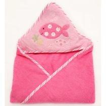 Toalha Infantil com Capuz Clingo - Rosa - Neutro - Neutro - Clingo