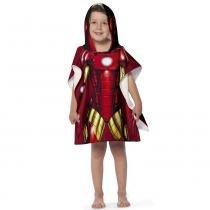 Toalha Poncho infantil Estampada com Capuz Avengers Iron Man - Lepper - Vingadores - Lepper