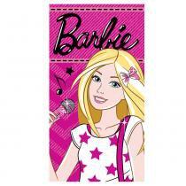 Toalha Visita Estampada 100 Algodão Barbie Rock - Santista - Branco - Santista