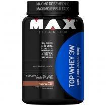 Top Whey 3W Pote 900g - Max Titanium - Chocolate - Max Titanium