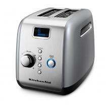 Torradeira KitchenAid Prata KJC02ASBNA - 7 Níveis de Tostagem Função Descongelar