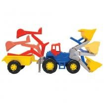 Trator Super Truck Infantil com Caçamba Móvel 5012 - Magic Toys - Magic Toys