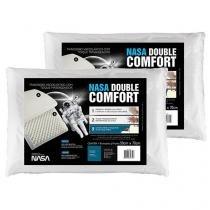 Travesseiro Espuma Viscoelástica Fibrasca NASA - Double Comfort 2 Peças