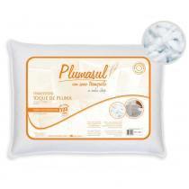 Travesseiro Fibra Siliconizada 50x70 cm Toque de Pluma - Branco - Plumasul