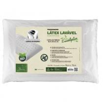 Travesseiro Látex Lavável Sintético Eucaliptus Para Fronhas 50x70 cm - Branco - Fibrasca