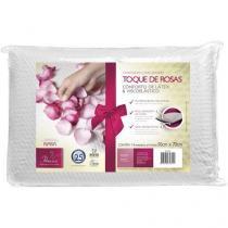 Travesseiro Viscoelástico e Latex - Fibrasca Dois Amores Toque de Rosas