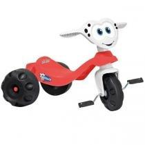 Triciclo Baixo Infantil Zootico Doggy Vermelho/Branco 746 - Bandeirante - Bandeirante