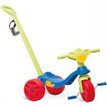 Triciclo de Passeio Kid Cross Azul com Haste 634 - Bandeirante - Bandeirante