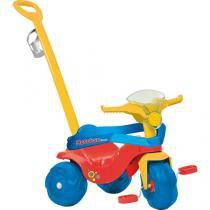 Triciclo Infantil Bandeirante - Motoban Passeio Premium Haste Removível