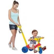 Triciclo Infantil Bandeirante Toy Story - Mototico Passeio Haste Removível Buzina