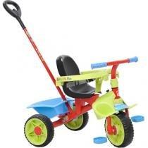 Triciclo Infantil Bandeirante Triciclo Smart Plus - Haste Removível Buzina Porta Objetos